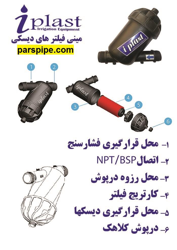 مینی فیلتر اصفهان پلاست